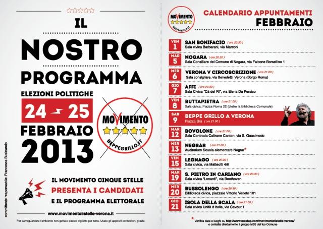 M5S tour candidati febbraio DATE e ORARI